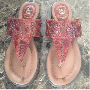 ARIAT LEATHER THONG SANDALS